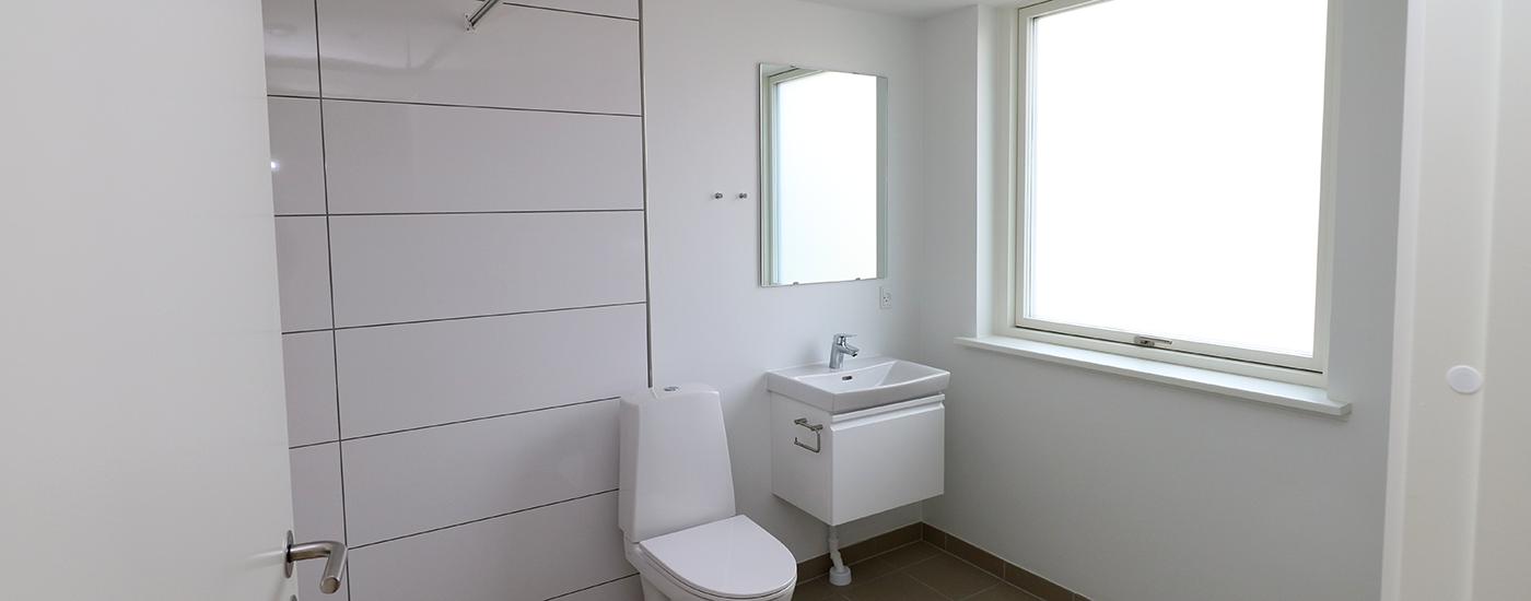 Nyt bad/toilet med gulvvarme